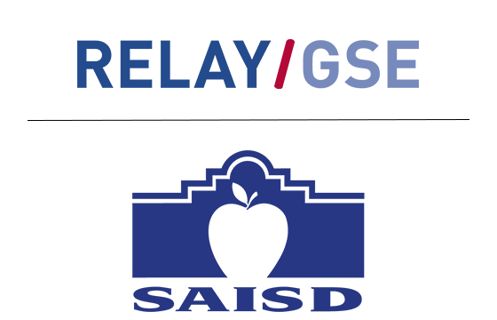 Logo showing Relay with San Antonio school district.