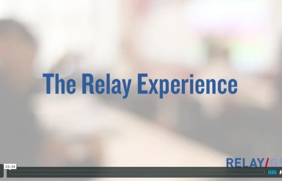 "Screenshot of the video ""The Relay Experience."""