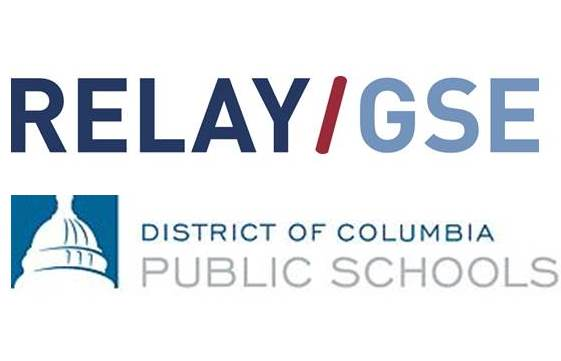 Relay and District of Columbia Public Schools logos